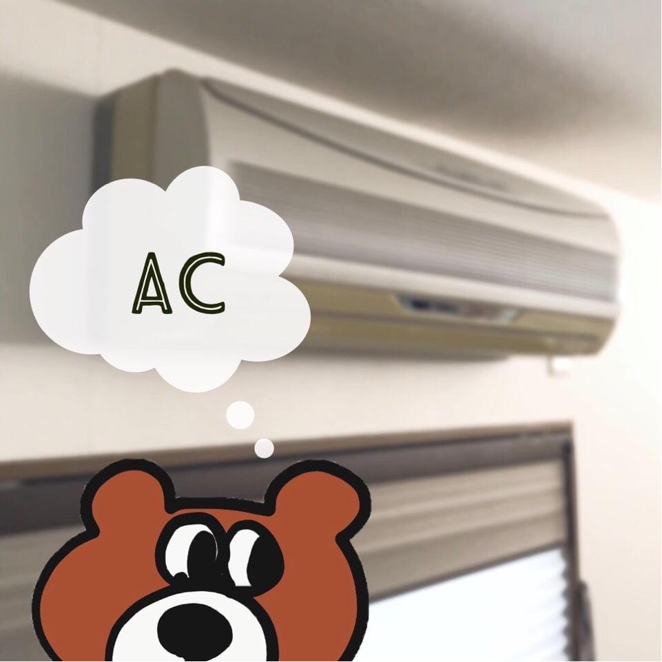子供部屋の間仕切りとエアコン
