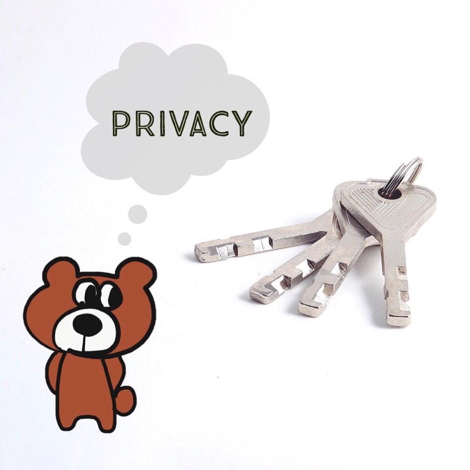 間仕切り壁のプライバシー